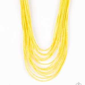 5 for $25 Yellow Seed Bead Necklace & Earrings